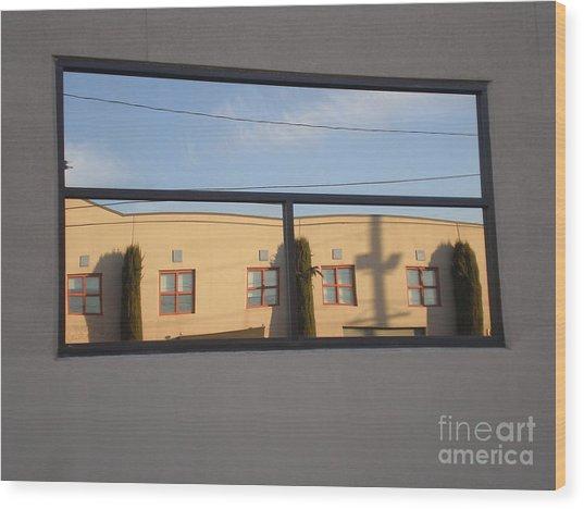 A Borrowed View Wood Print