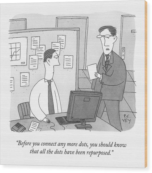 A Boss Speaks To An Employee Wood Print