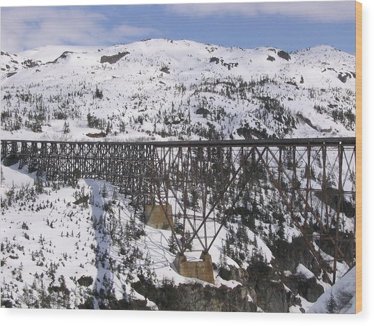 A Bridge In Alaska Wood Print