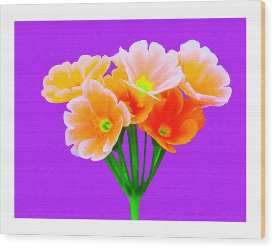 A Bunch Of Beautiful Flowers Wood Print by Ck Gandhi