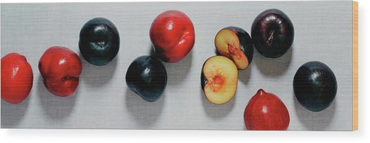 A Bunch Of Plums Wood Print