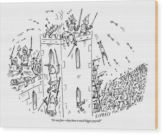 A Castle Is Overwhelmed And Outnumbered Wood Print