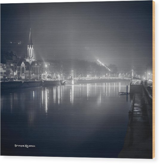 Wood Print featuring the photograph A Cathedral In The Mist II by Stwayne Keubrick