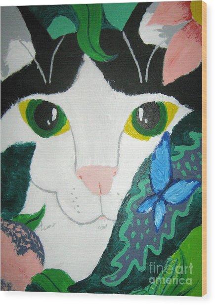 A Cat's Fancy Wood Print
