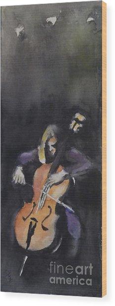 A Cellist Wood Print