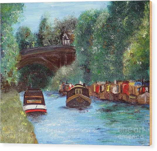 A Cheshire Canal Remembered Wood Print