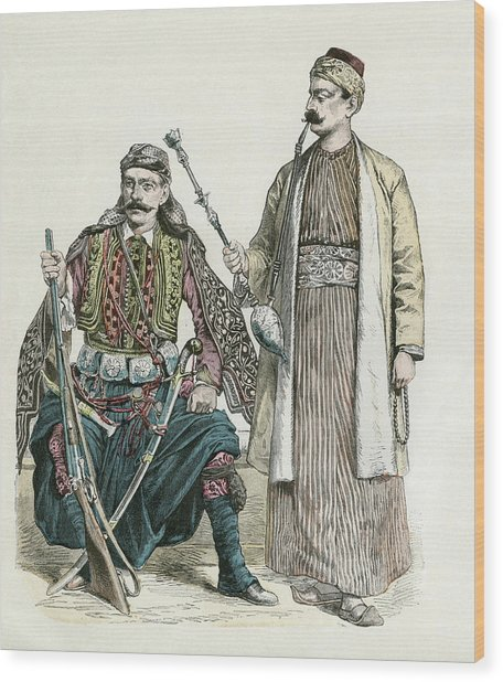 A Chieftain From Lebanon, A Moslem Wood Print