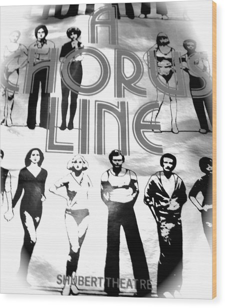 A Chorus Line Vintage Bw II Wood Print by Toni Ryder