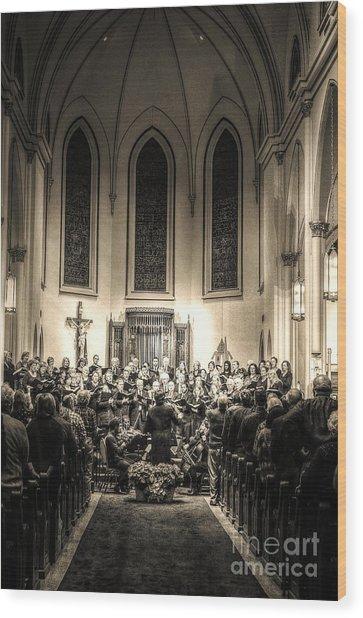 A Christmas Choir Wood Print