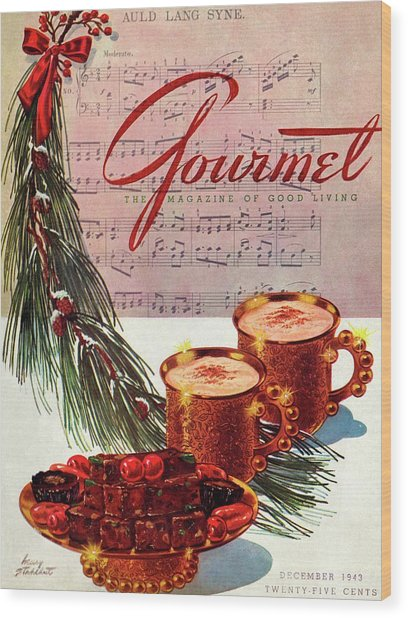 A Christmas Gourmet Cover Wood Print