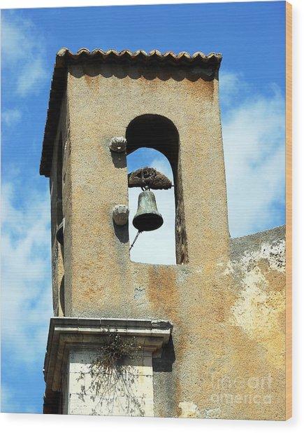 A Church Bell In The Sky 3 Wood Print by Mel Steinhauer