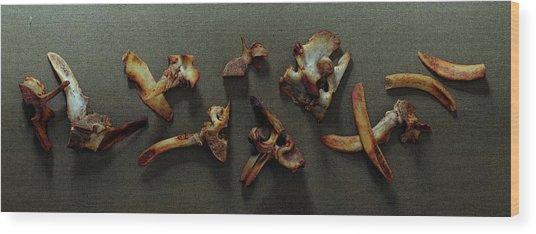A Cluster Of Sheep Bones Wood Print