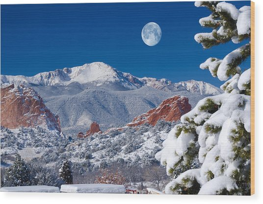 A Colorado Christmas Wood Print
