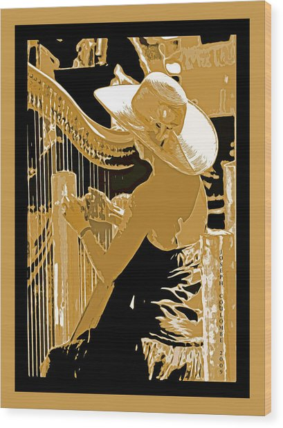 A Coos Bay Lady Musician Wood Print