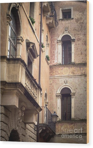 A Corner Of Vicenza Italy Wood Print