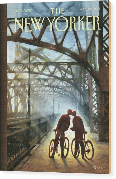 Fifty Ninth Street Bridge Wood Print by Eric Drooker
