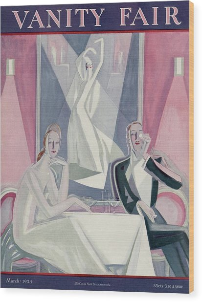 A Couple Sitting At A Table Wood Print by Eduardo Garcia Benito