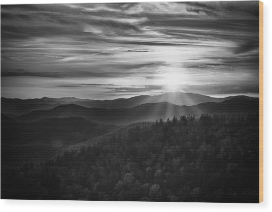 A Cowee Mountains Evening Wood Print
