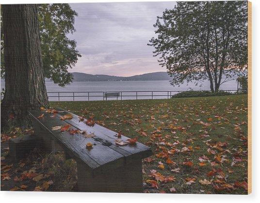 A Cozy Plave Wood Print