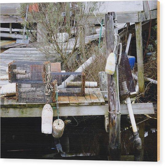 A Crab Fishermans Still Life Wood Print