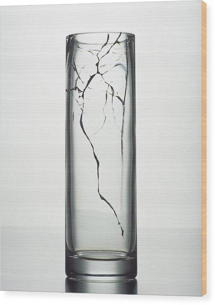 A Cracked Vase Wood Print