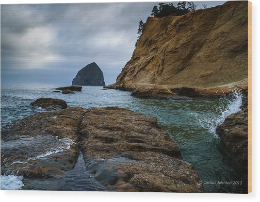A Day At Cape Kiwanda Wood Print