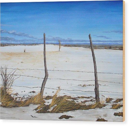 A Desert Winter Wood Print