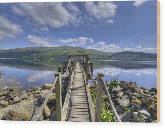 A Dock Out To Loch Tay Wood Print