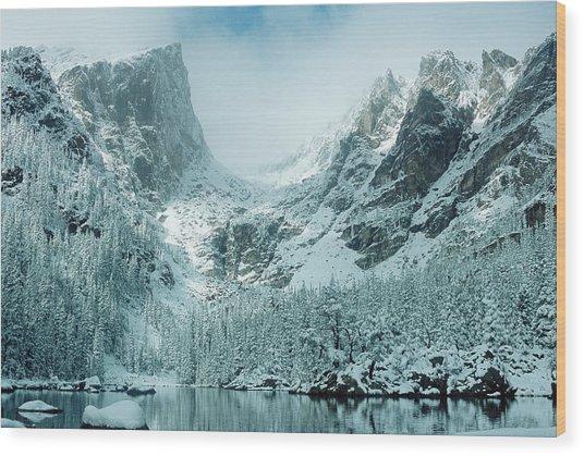 A Dream At Dream Lake Wood Print