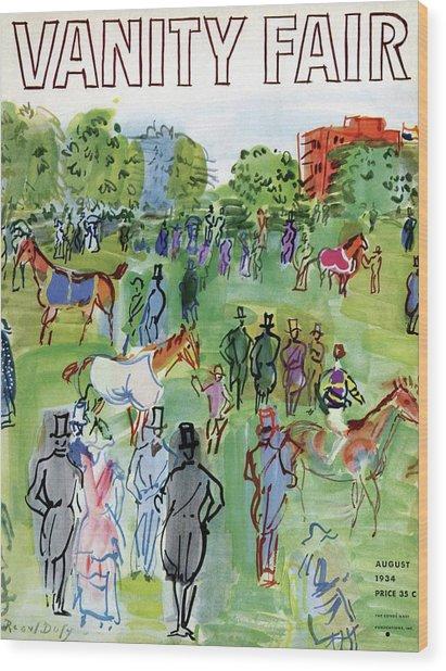 A Equestrian Scene Wood Print