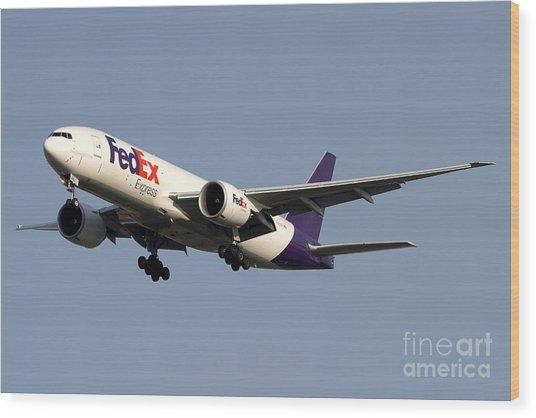 A Federal Express Boeing 777f Cargo Wood Print