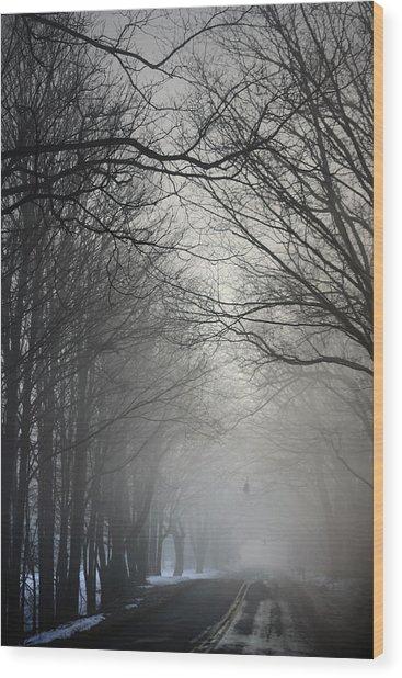 A Few Of My Favorite Things Trees In Fog Wood Print
