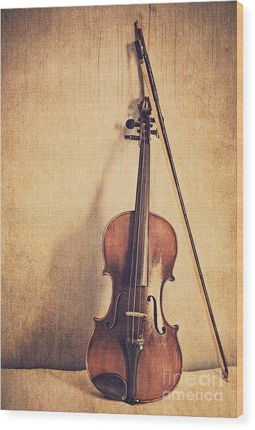 A Fiddle Wood Print