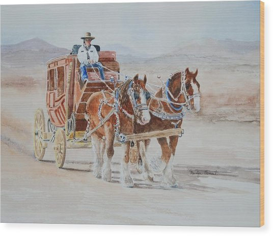 A Fine Ride II Wood Print