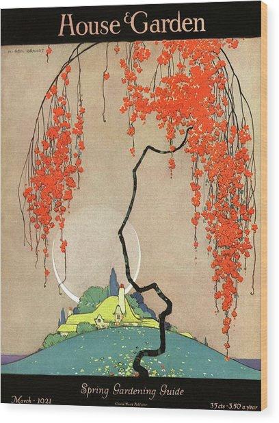A Flowering Tree Wood Print