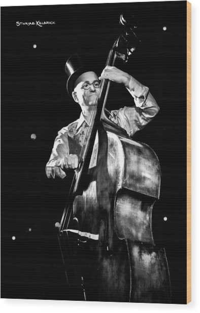 Wood Print featuring the photograph A French Contrabass Player by Stwayne Keubrick
