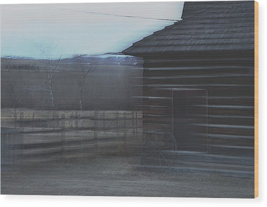 A Glance Back 2 Wood Print
