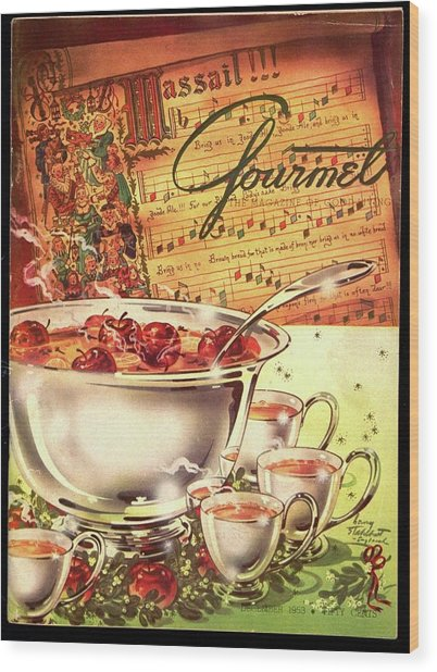 A Gourmet Cover Of Apples Wood Print