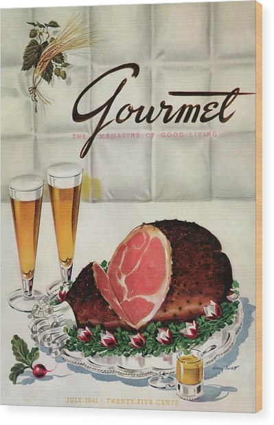 A Gourmet Cover Of Ham Wood Print