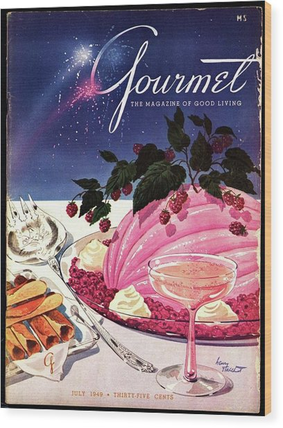 A Gourmet Cover Of Mousse Wood Print