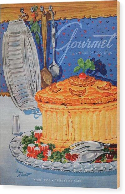 A Gourmet Cover Of Pate En Croute Wood Print