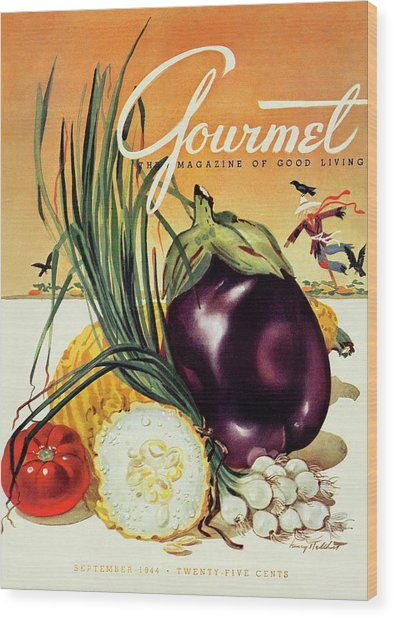 A Gourmet Cover Of Vegetables Wood Print