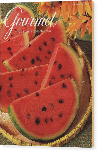 A Gourmet Cover Of Watermelon Sorbet Wood Print