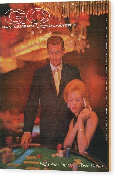 A Gq Cover Of Models At Casino De Capri In Havana Wood Print
