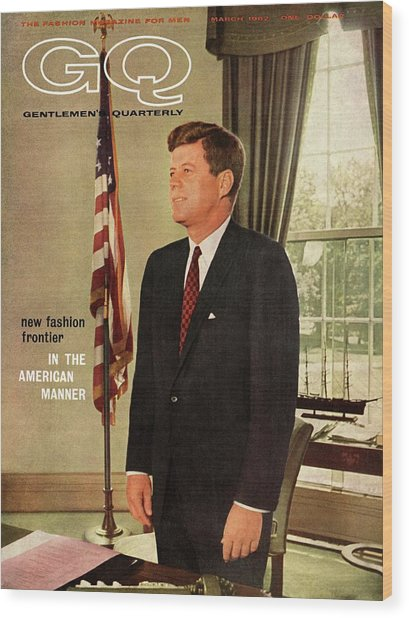 A Gq Cover Of President John F. Kennedy Wood Print