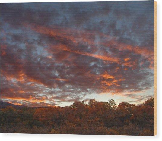 A Grand Sunset 2 Wood Print