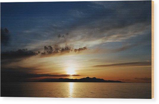 A Great Salt Lake Sunset Wood Print
