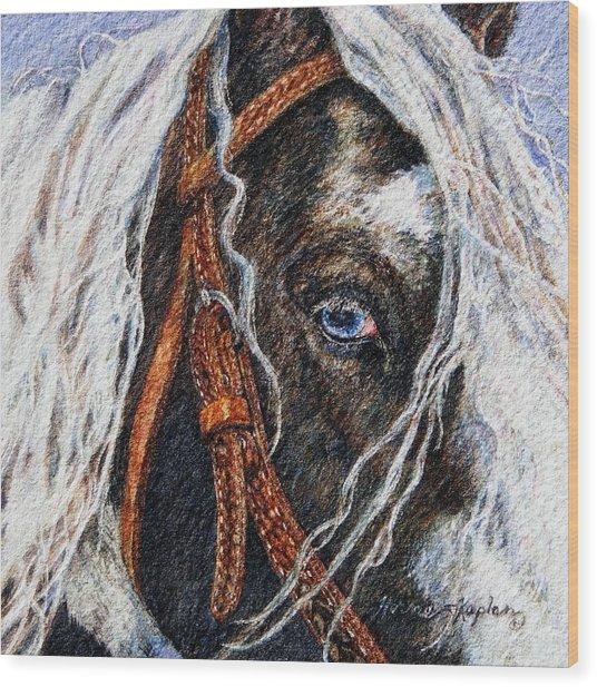 A Gypsy's Blue Eye Wood Print