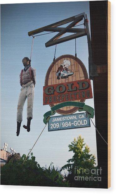 A Hanged Man In Jamestown Wood Print