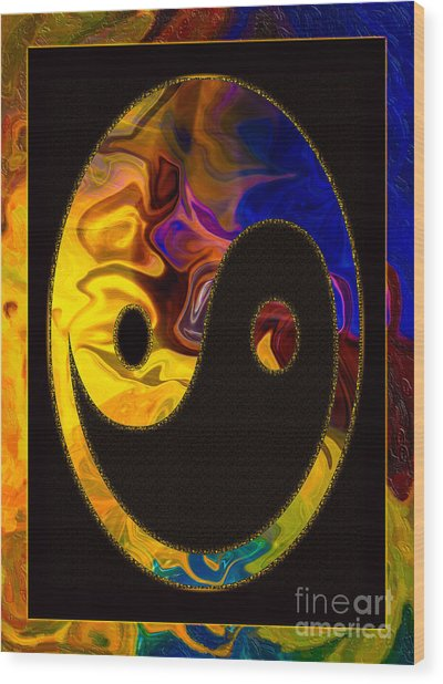 A Happy Balance Of Energies Abstract Healing Art Wood Print